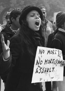 Protest in New Delhi against the gang-rape of a 23-year-old woman who later died from her injuries